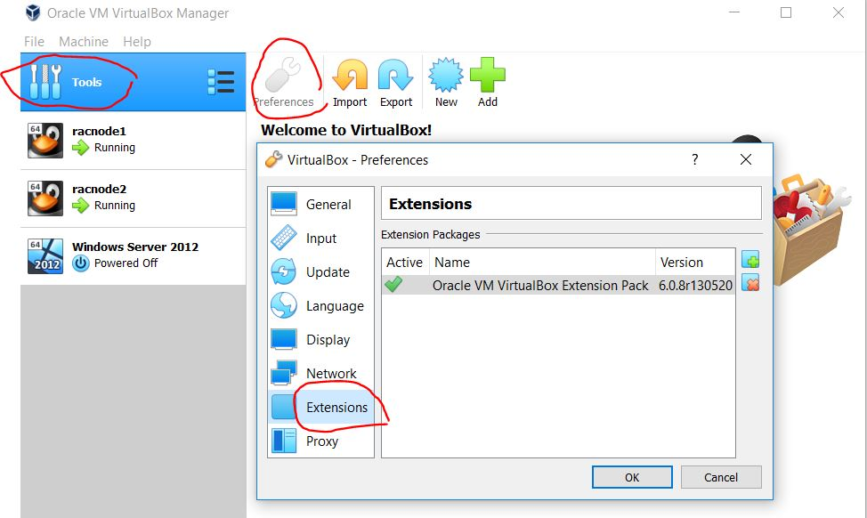 "install ""Oracle VM VirtualBox Extension Pack"""