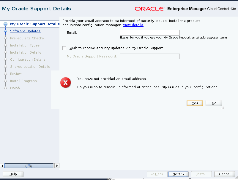 My Oracle Support Details