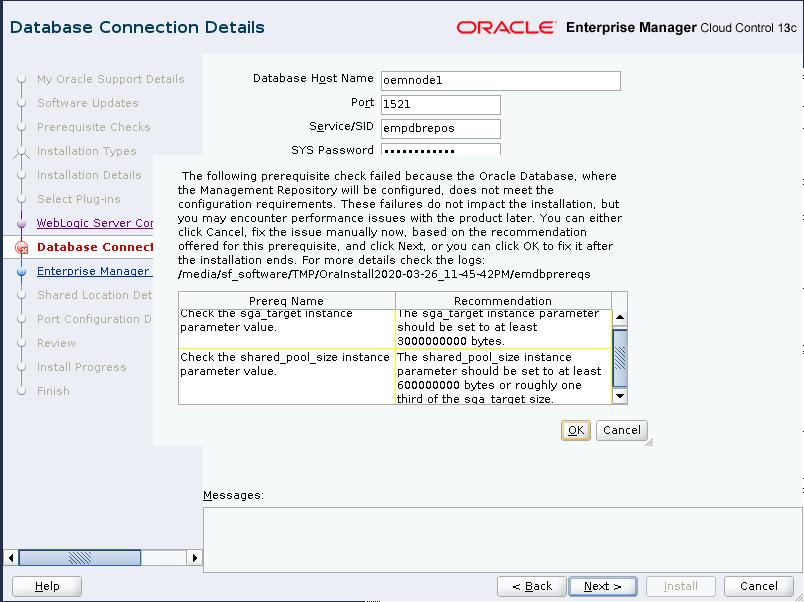 Database Connection Details